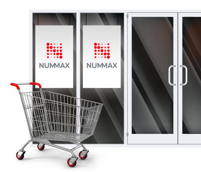 Écran de vitrine led pour magasin fait par Nummax