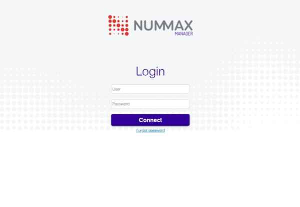 Nummax Manager login