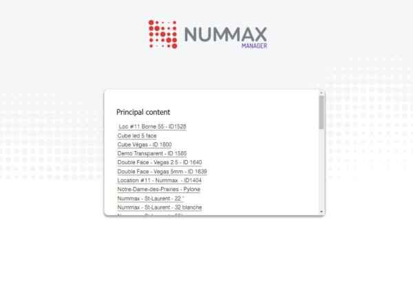 Nummax Manager standard