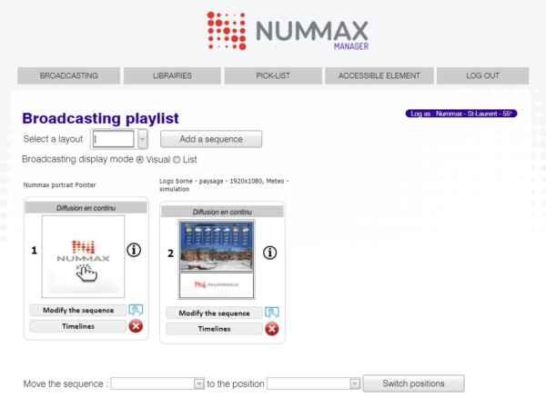 Nummax Manager playlist