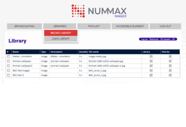 Nummax Manager library