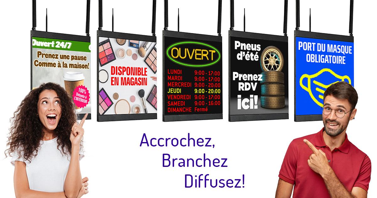 Enseigne_Écran Ouvert_Fermé