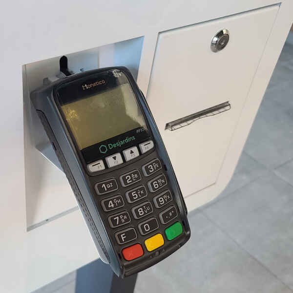 Self-Service interactive kiosk pin pad