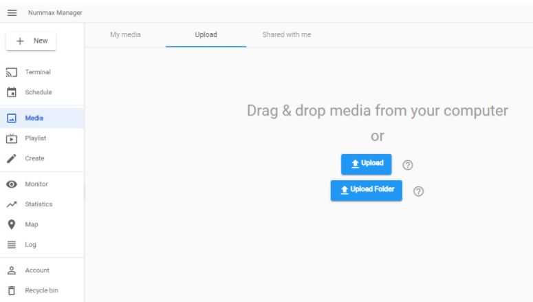 Upload images and videos
