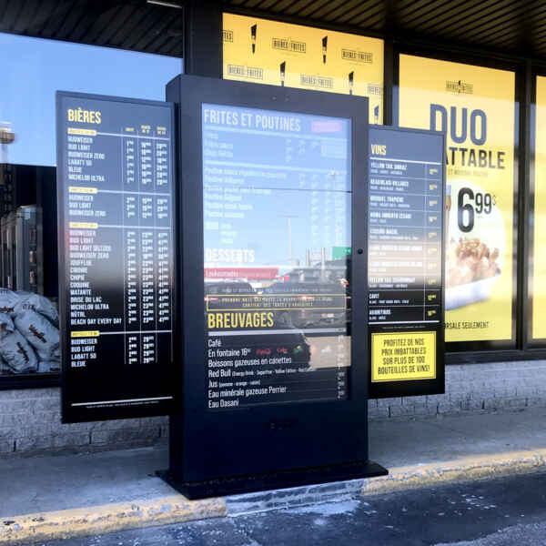 Drive-thru kiosk front view